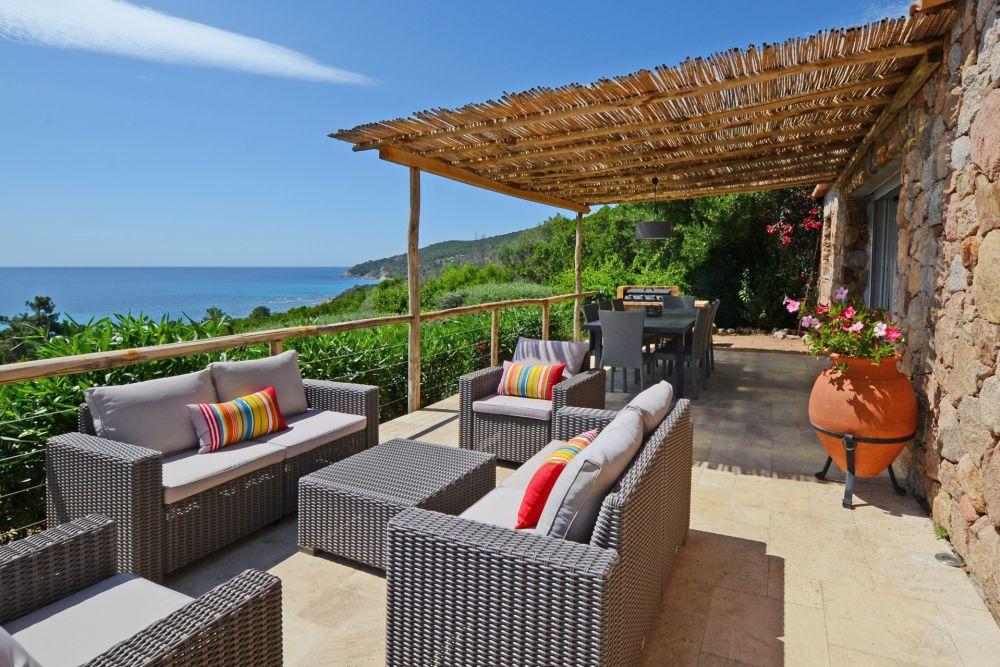 Terrasse Vue Mer Plougastel : Chambres confort vue mer u2013 location de standing Corse du sud