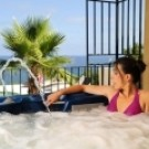 Relaxation Jacuzzi Corsica sea view